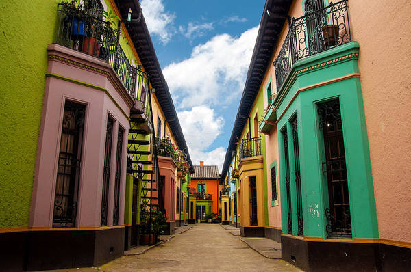 Colombia Photograph - Historic Colorful Buildings by Jess Kraft
