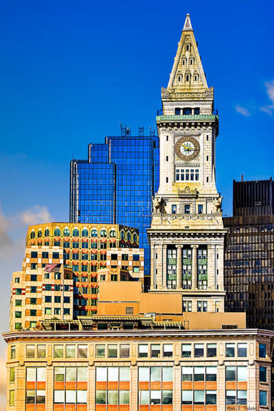 Photograph - Historic Custom House Clock Tower - Boston Skyline by Mark E Tisdale