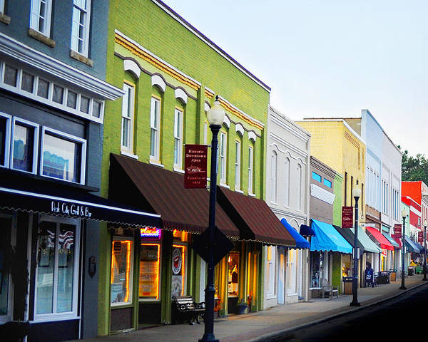 Photograph - Historic Downtown Apex by Val Stone Creager