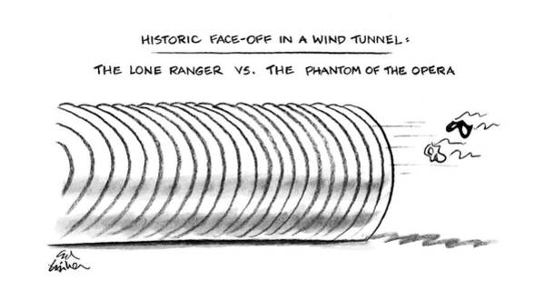 May 30th Drawing - Historic Face-off In A Wind Tunnel: The Lone by Ed Fisher