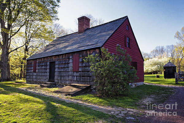 Continental Army Photograph - Historic Farmhouse In Jockey Hollow by George Oze