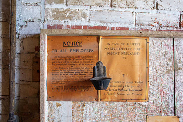Notice Board Photograph - Historic Flour Mill Notice by Jim West