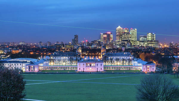 Canary Wharf Photograph - Historic Greenwich And Canary Wharf by Michael Lee