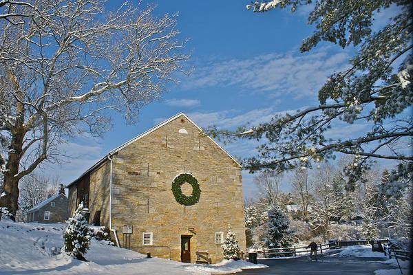Tulpehocken Creek Photograph - Historic Gring's Mill Snow Pennsylvania by Blair Seitz