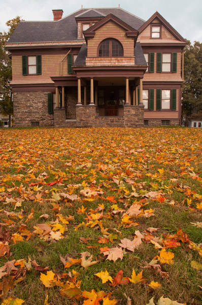 Photograph - Historic House In Autumn by Nancy De Flon