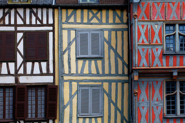 Burgundy Photograph - Historic Houses In The Center Of Auxerre by Studio Box