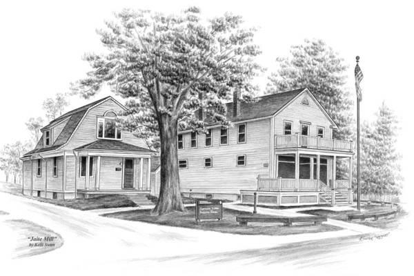 Historic Jaite Mill - Cuyahoga Valley National Park Art Print
