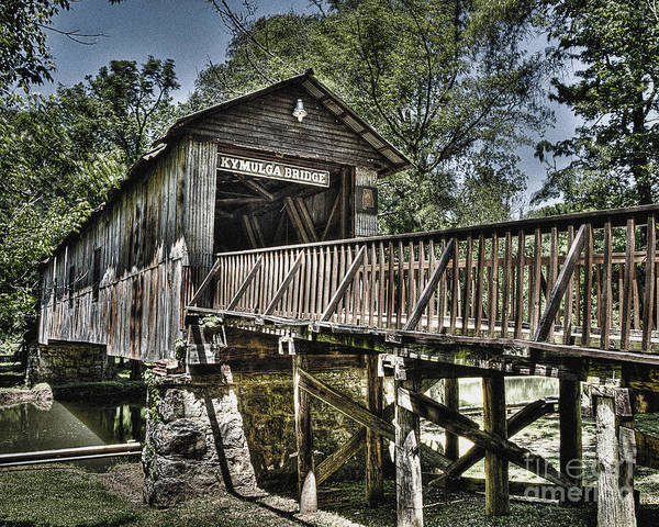 Historic Kymulga Covered Bridge Art Print