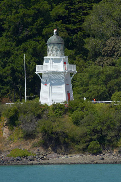 Wall Art - Photograph - Historic Lighthouse, Akaroa, Banks by David Wall