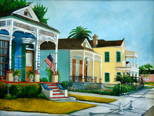 Wall Art - Painting - Historic Louisiana Homes by Elaine Hodges