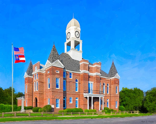 Photograph - Historic Macon County Courthouse by Mark E Tisdale