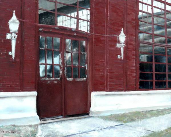Painting - Historic Mcneill Street Pumping Station Shreveport Louisiana by Lenora  De Lude