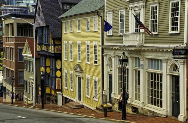 Photograph - Historic Street In Providence Ri by Nancy De Flon