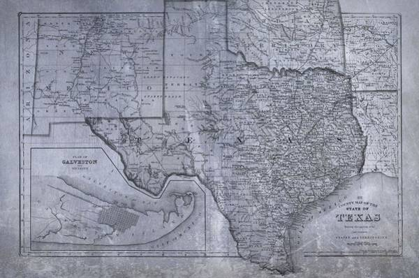 Digital Art - Historic Texas Map by Dan Sproul