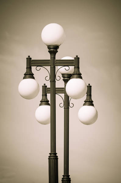 Photograph - Historic Ybor Lamp Posts by Carolyn Marshall