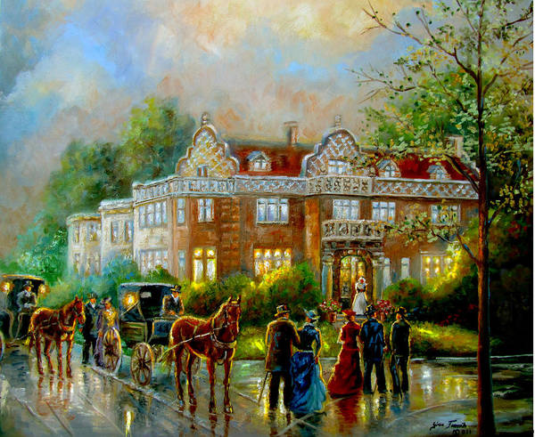 Gina Femrite Wall Art - Painting - Historical Architecture Indiana Baker House Mansion  by Regina Femrite