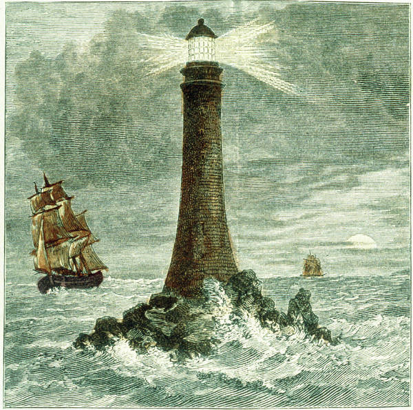 Bell Rock Photograph - Historical Art Of Bell Rock Lighthouse by Science Photo Library