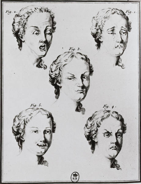 Wall Art - Photograph - Historical Artwork Of A Woman's Facial Expressions by Science Photo Library