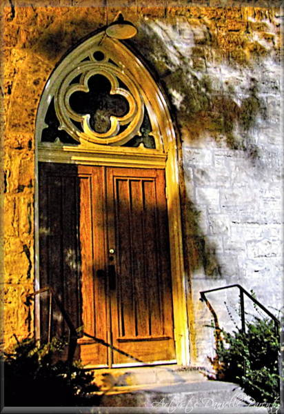 Photograph - Historical Church Door by Danielle  Parent