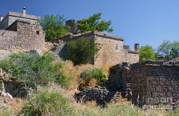 Turkiye Wall Art - Photograph - Historical Houses At Behramkale  Assos  Turkey by Leyla Ismet