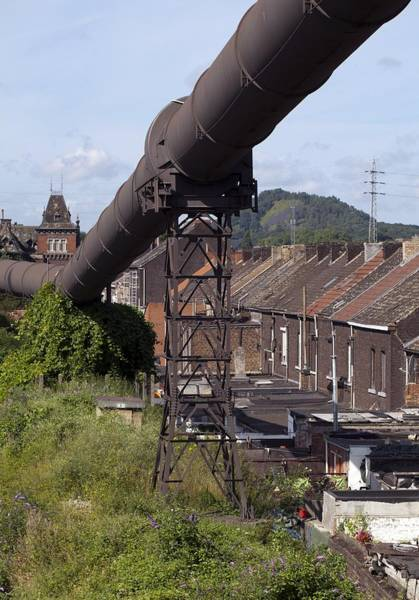 Wall Art - Photograph - Historical Industrial Pipeline, Belgium by Science Photo Library