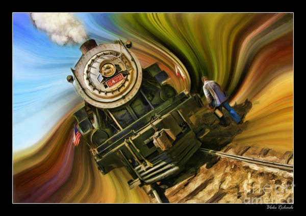 Photograph - Historical Niles Southern Pacific 2472 Steam Engine 1921  by Blake Richards
