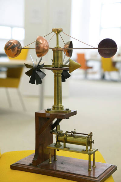 Weather Vane Photograph - Historical Recording Anemometer by Michael Donne/science Photo Library