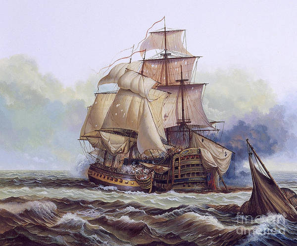 Photograph - Historical Sailboat by Publiphoto