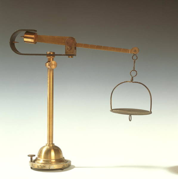 Wall Art - Photograph - Historical Weighing Scales by Cc Studio/science Photo Library