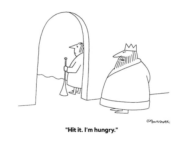 1984 Drawing - Hit It. I'm Hungry by Charles Barsotti