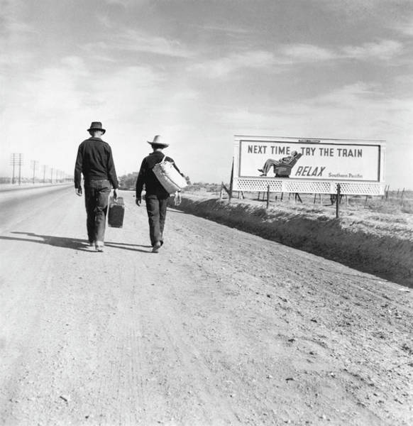 Wall Art - Photograph - Hitchhikers, 1937 by Granger