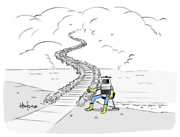 Disguise Drawing - Hitchhiking To Heaven by Kaamran Hafeez