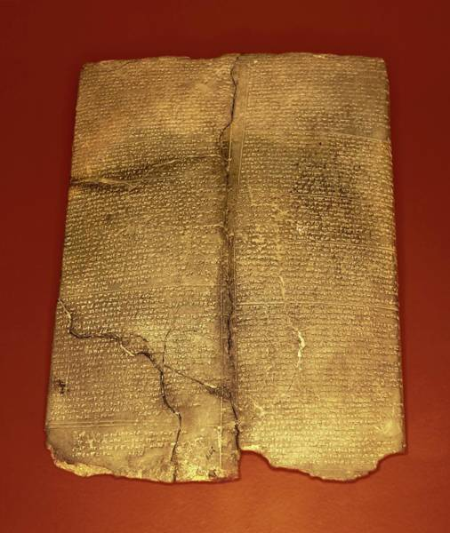 Millenium Photograph - Hittite Cuneiform Tablet by David Parker