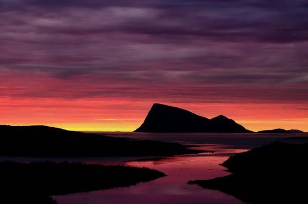 Silhouette Photograph - Håja In Midnight Silhouette by John Hemmingsen