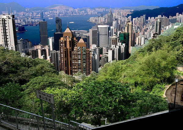 Wall Art - Photograph - Hk Harbor From Victoria Peak by Frank Savarese