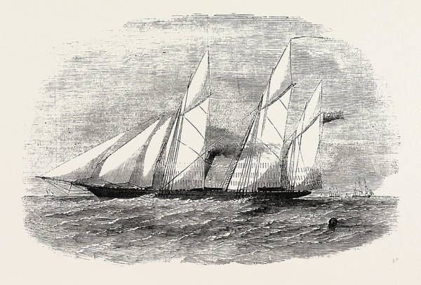 Wall Art - Drawing - H.m. Screw Gun-vessel Wrangler Built For The Baltic 1854 by English School