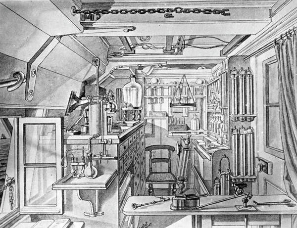 Wall Art - Photograph - Hms Challenger Laboratory by Natural History Museum, London/science Photo Library