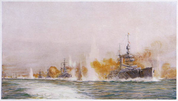 Wall Art - Drawing - Hms 'lion' Leads The Battle- Cruisers by Mary Evans Picture Library
