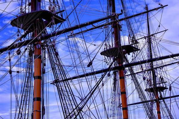 Crows Nest Wall Art - Photograph - Hms Surprise Rigging by Garry Gay