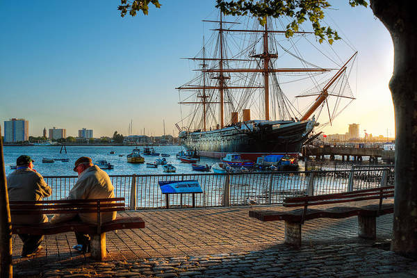 Floating Museum Photograph - H.m.s. Warrior At Sunset by Trevor Wintle