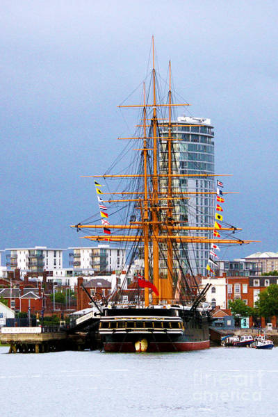 Floating Museum Photograph - Hms Warrior Portsmouth by Terri Waters