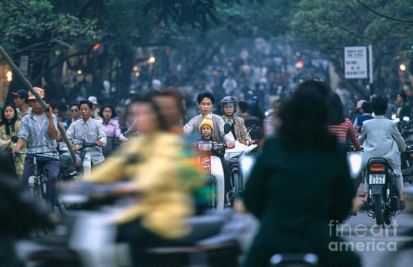 Photograph - Ho Chi Minh City Trafic by Kim Lessel