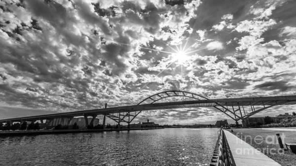 Mke Photograph - Hoan Bridge Peak Thru by Andrew Slater