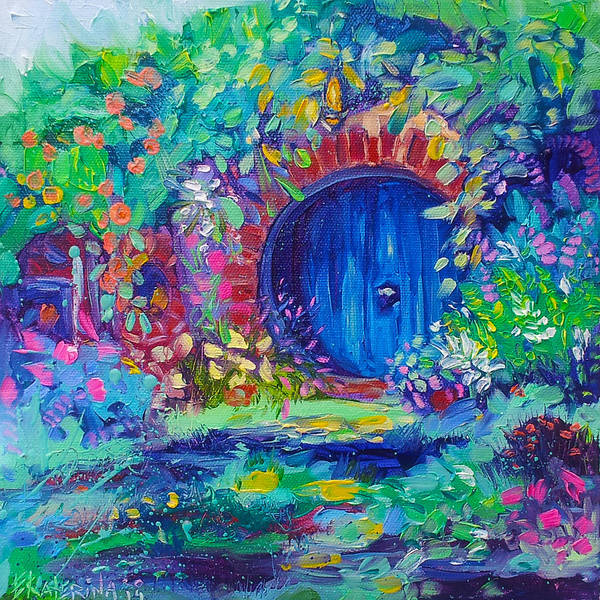 Painting - Hobbit House Shire Hobbiton by Ekaterina Chernova