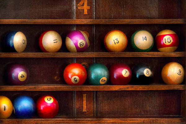 Wall Art - Photograph - Hobby - Pool - Let's Play Billiards by Mike Savad