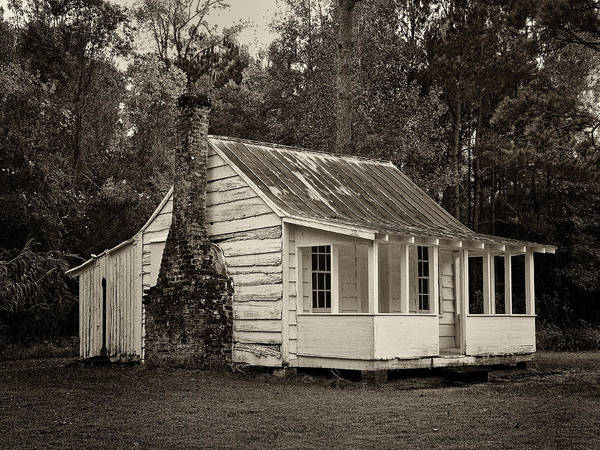 Sandra Anderson Wall Art - Photograph - Hobcaw Cabin In Sepia by Sandra Anderson