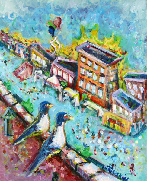 Wall Art - Painting - Hoboken Street Fair by Jason Gluskin