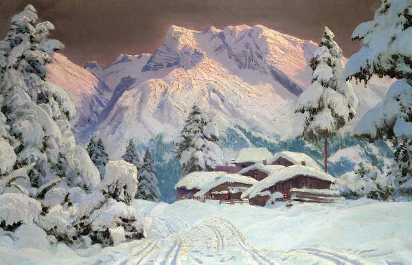 Austrian Painting - Hocheisgruppe by Alwin Arnegger