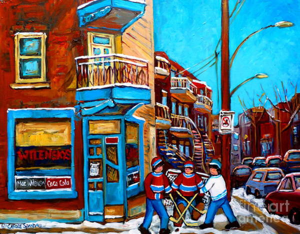 Painting - Hockey At Wilensky's Diner by Carole Spandau