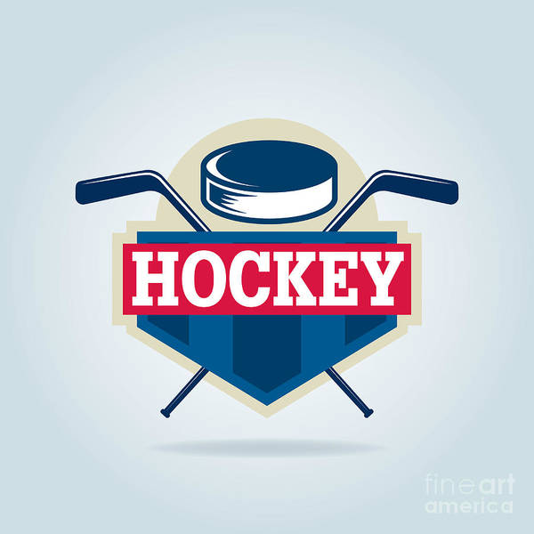 Wall Art - Digital Art - Hockey Logo,sport by Vextor Studio